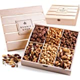 Bonnie & Pop- Nut Gift Basket, in Reusable Wooden Crate, Healthy Gift Option, Gourmet Snack Food Box, with Unique Flavors, Gr