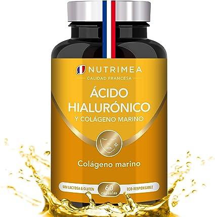 Colágeno Marino y Acido Hialurónico Puro | Con Vitamina A y ...