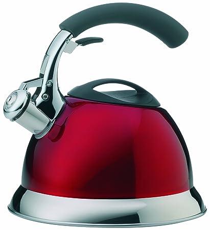 kela Pito - Hervidor de agua de inducción con mango antideslizante, color rojo
