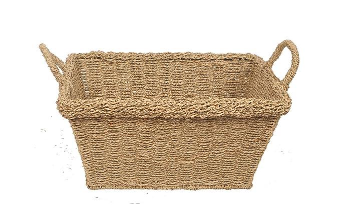 paniers rectangulaire en jonc/Créoles Poignées/cadeaux/prendre soin de/stockage