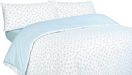 Montse Interiors Funda nórdica Estrellas Azules Algodón 100% (A-Paris Azul, para Cama de 90x190/200 (Nórdico de 150)): Amazon.es: Hogar