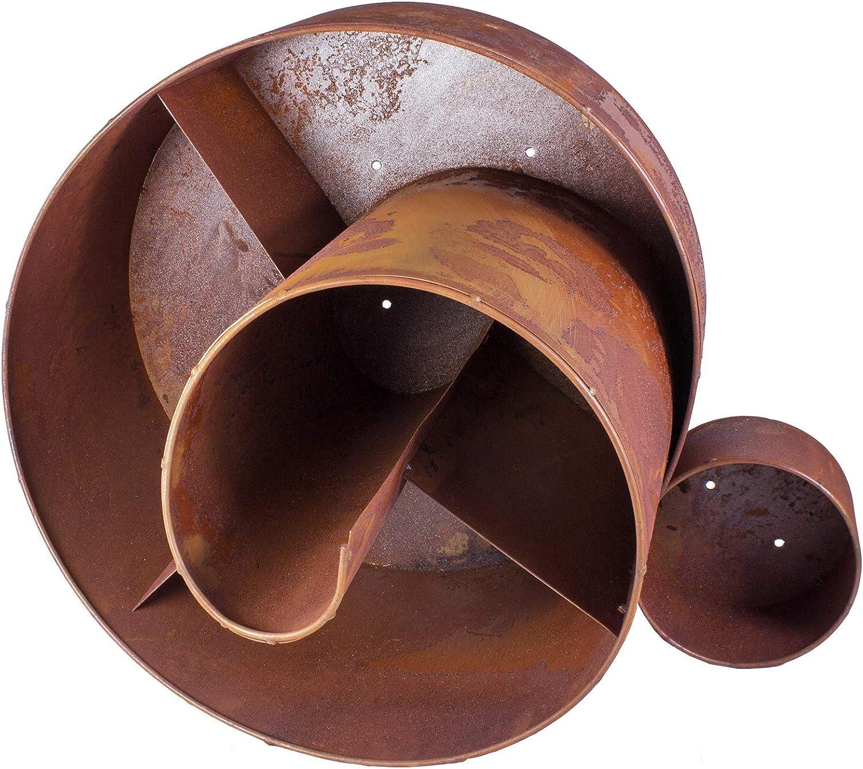 in Metallo patinato L x A x L ca Grande Torre di Erbe aromatiche Decorazione da Giardino a Spirale Piramide di Fiori Dio Spirale per Erbe aromatiche 43 x 41 x 61 cm