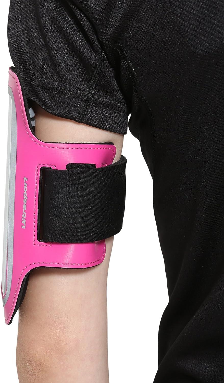 Unisex Adulto h/ípica Ultrasport Funda Brazalete hidr/ófugo Bolsillo para m/óvil Caminar Velcro Robusto Bolsillo de Neopreno para el Brazo Brazo para Correr Ciclismo o Senderismo