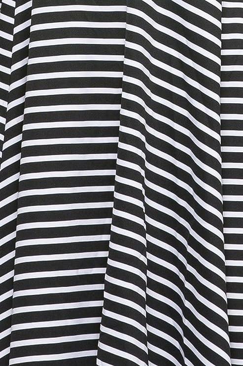 00ec781a2e 2LUV Women s Sleeveless Striped Cutout Skater Dress Black   White (JMD1067)  at Amazon Women s Clothing store