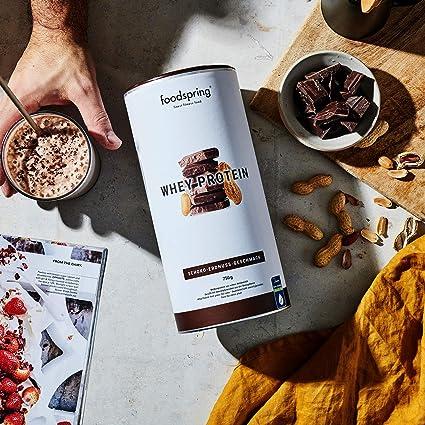 foodspring Proteína Whey, Sabor Chocolate y Crema de ...