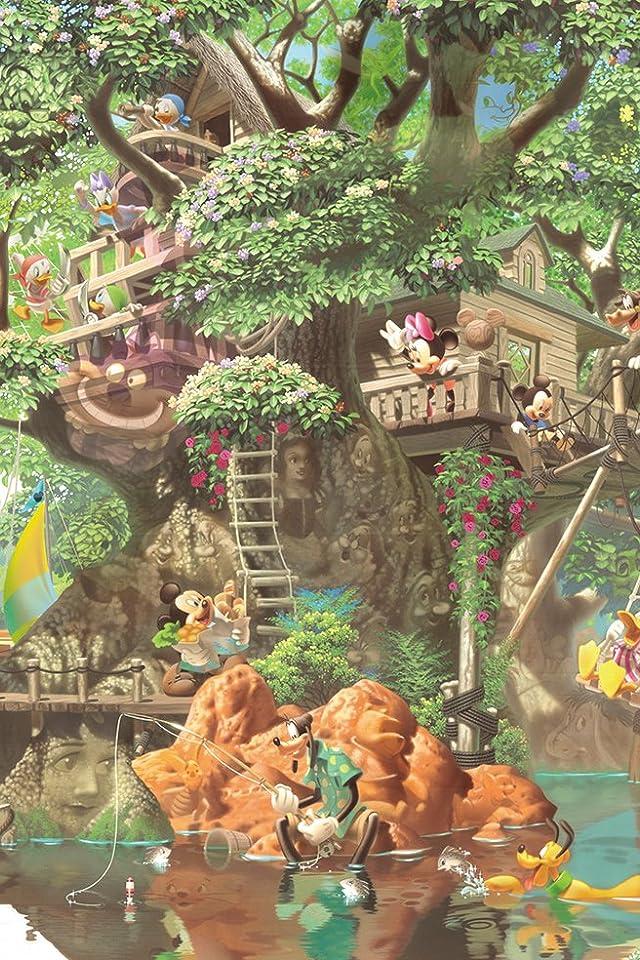 ディズニー ふしぎの森のツリーハウス iPhone(640×960)壁紙画像