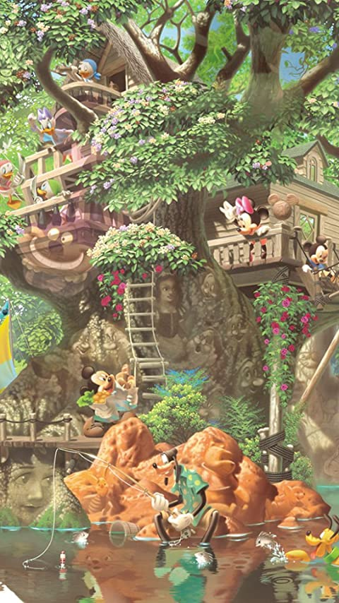 ディズニー ふしぎの森のツリーハウス XFVGA(480×854)壁紙画像
