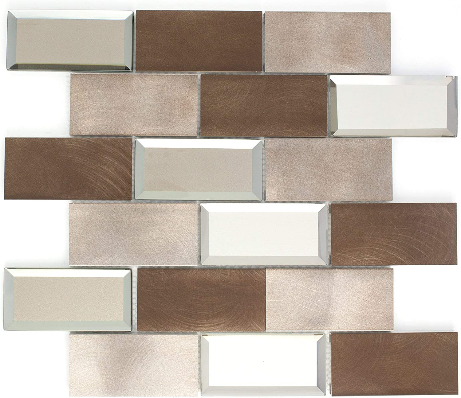 - Amazon.com: TAFMG-01 2x4 Subway Tile Bronze Almiunum Mix Mirror