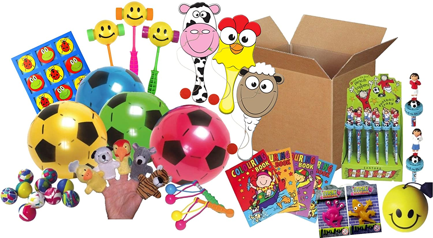 12x Colourful Paddle Bat And /& Ball Birthday Party Loot Bag Pinata Toys Fillers
