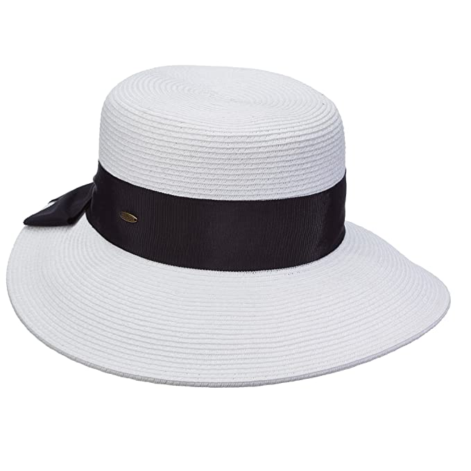Image Unavailable. Image not available for. Color  SCALA COLLEZIONE  DIMENSIONAL BRIM GROSGRAIN BOW SUN HAT ... bc3d50336bdb