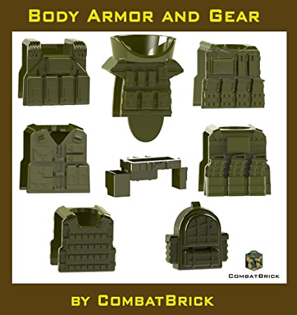 amazon com 8 custom army builder toy accessories body armor and