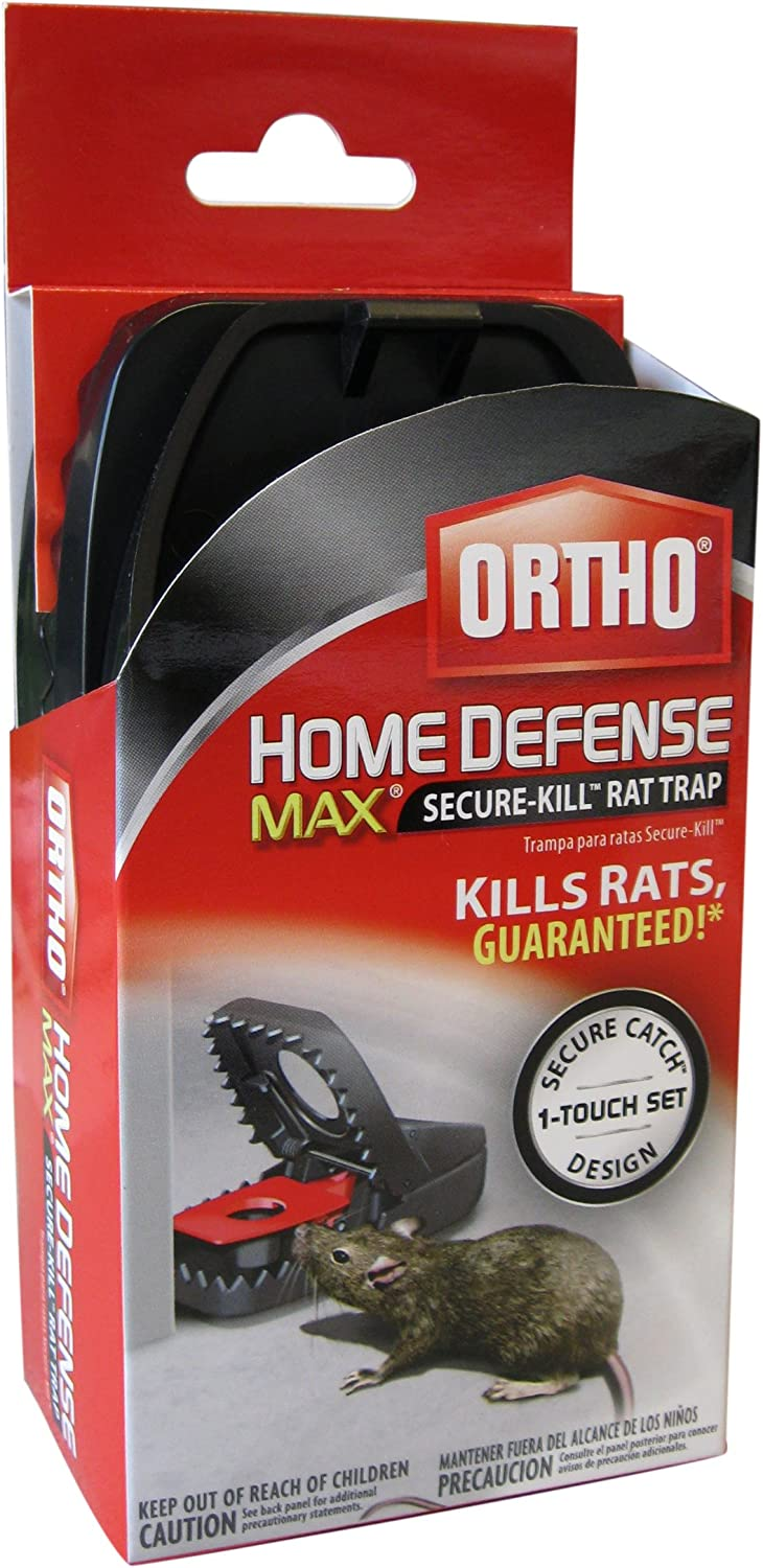Ortho 0321210 Home Defense MAX Secure-Kill Rat Trap, 1-Pack