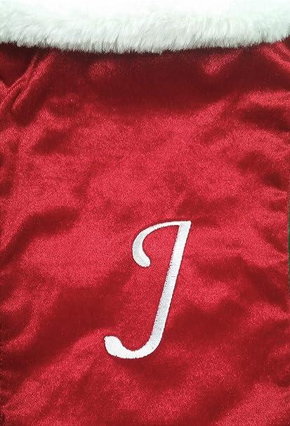 Letter Christmas Stockings.Amazon Com Holiday Magic 20 Plush Red Velvet Monogrammed Christmas