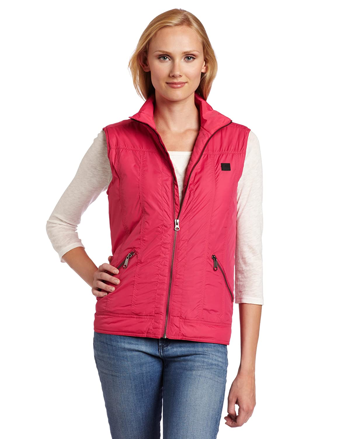 Carhartt Women's Skyline Vest Insulated Nylon Zip front Morning Rose (Closeout) Medium Carhartt Womens WV006-MRS