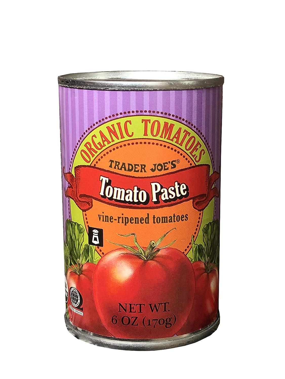 Amazon Com Trader Joe S Organic Tomatoes Tomato Paste Vine Ripened Tomatoes 6oz 170g Grocery Gourmet Food