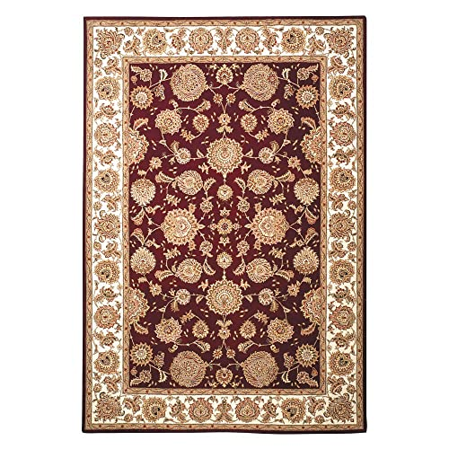 Safavieh Persian Court Collection PC123F Handmade Red and Ivory Wool Area Rug 6 x 9