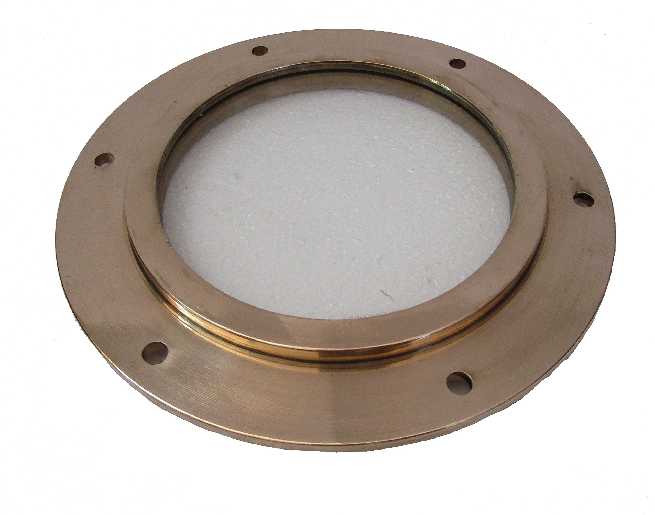 Brass Blessing Marine BRASS Port Hole/Window/Porthole – 9 Inches Outer - TOUGHENED GLASS - Nautical/Boat/Maritime (5227)