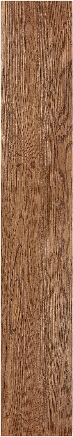Achim Home Furnishings VFP2.0RW10 Tivoli II Peel 'N' Stick Vinyl Floor Planks (10 Pack), Redwood, 6