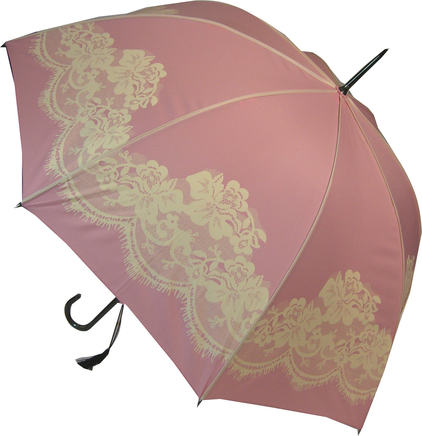 Black Vintage Print Umbrella Blooming Brollies BCSVBL