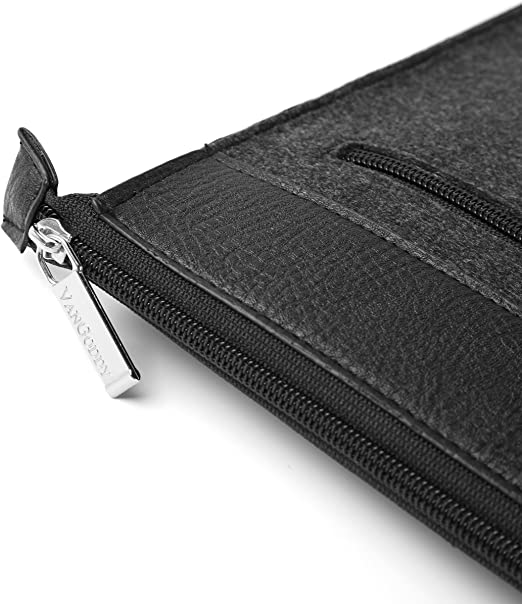 Jumper EZpad 5s 11.6 inch i10X 10.1 inch Huawei Matebook 12 inch with Wireless Mouse and Headphone Vangoddy 12 Inch Exo Woolen Felt Zipper Carrying Sleeve Black Trim for Dragon Touch A1 Plus