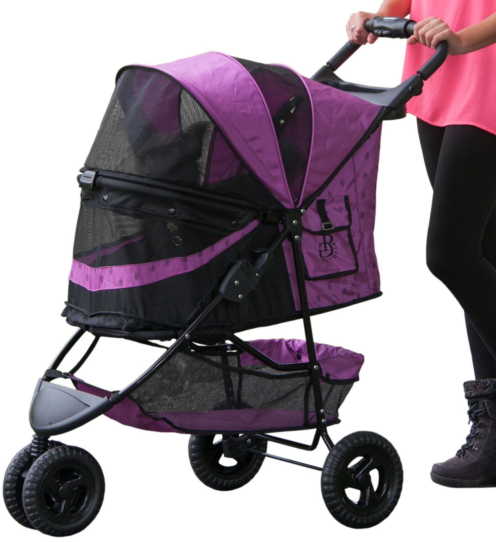 Pet Gear No-Zip Special Edition 3 Wheel Pet Stroller for Cats/Dogs, Zipperless Entry, Easy One-Hand Fold, Removable Liner by Pet Gear (Image #1)