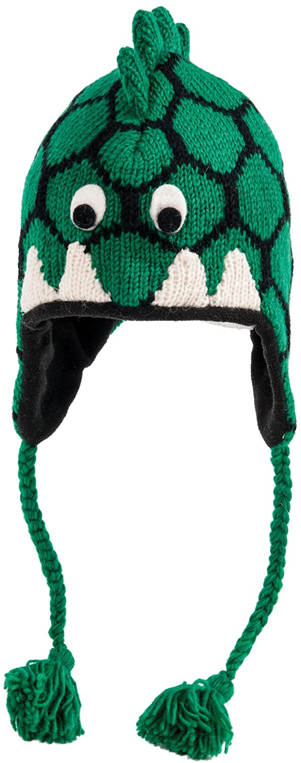 Nirvanna Designs CHDINO2 Dinosaur Hat with Fleece, Green, 5 Years Nirvanna Designs Inc