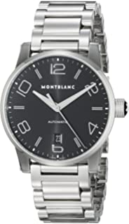 Montblanc Timewalker Date Automatic Mens Black Dial Stainless Steel Swiss Watch 105962