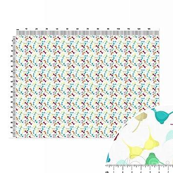 Sujetador Collection Plain algodón tela metro lineal (140 x 100 cm), color blanco