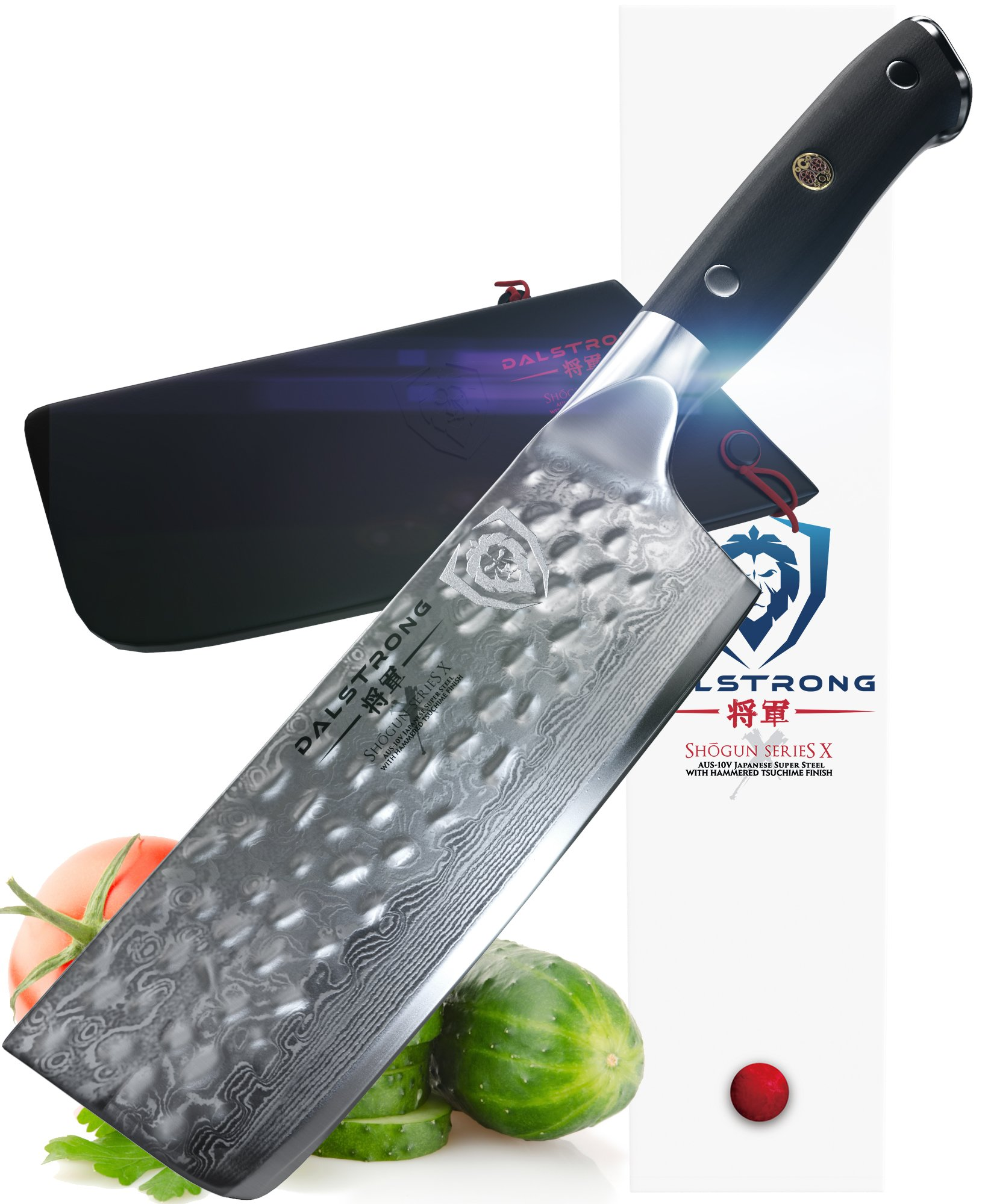 DALSTRONG Nakiri Vegetable Knife - Shogun Series X - VG10 - Hammered Finish - 6'' (152mm)