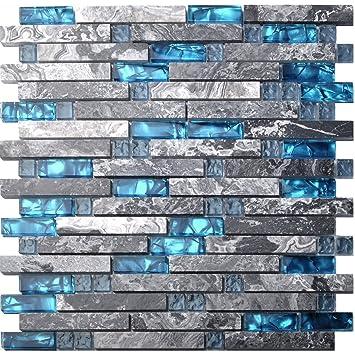 Home Building Glass Tile Kitchen Backsplash Idea Bath Shower Wall - Glass-tile-backsplash-decoration