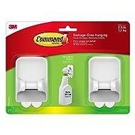 Command Spray Bottle Hangers Value Pack, 2-Hangers, 4-Large Strips (17009-HW2ES)