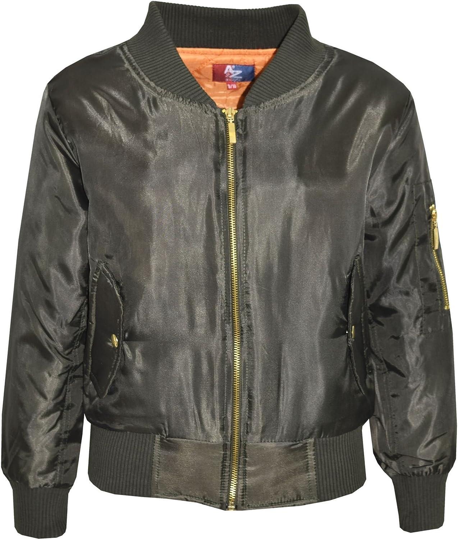 A2Z 4 Kids Kids Jacket Unisex Badges Bomber Padded Zip Up Biker Jacktes MA1 Coats New Age 2 3 4 5 6 7 8 9 10 11 12 13 Years