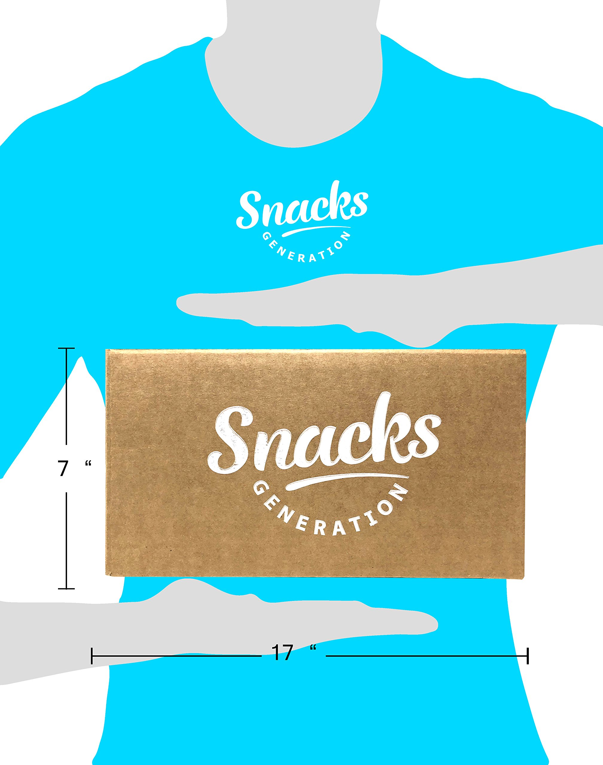 Healthy Snacks Care Package, Many Different Treats To Sample, Chips, Popcorn, Nuts and Gummy Items (50 Count) by Snacks Generation (Image #2)