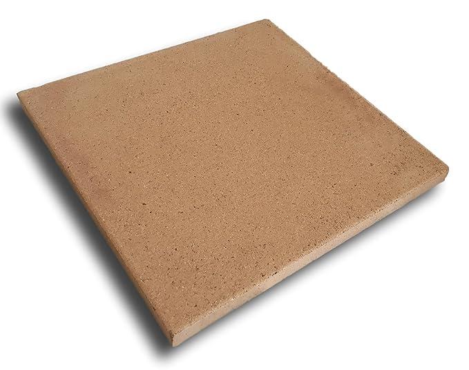 Piedra de horno de arcilla refractaria - 30x30 cm: Amazon.es: Hogar