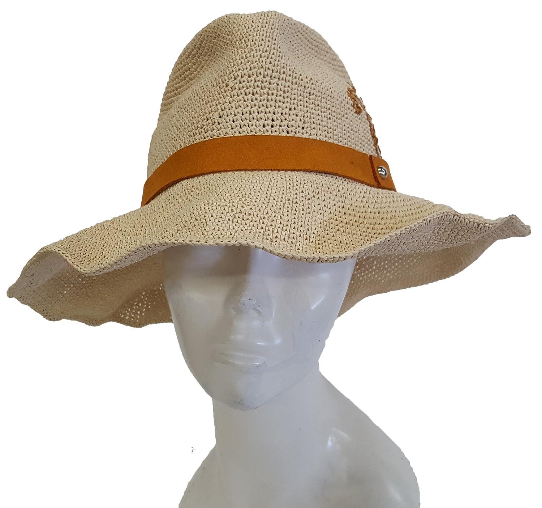 Summer Fedora Gambler Safari Floppy Women s Hats Raffia Travel Beach Hat  Natural at Amazon Women s Clothing store  699e2ba9fc40