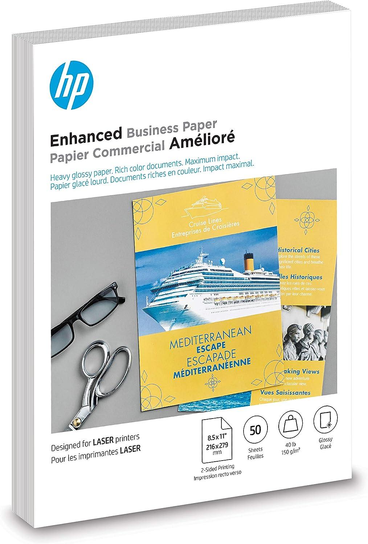 HP Brochure Paper | Glossy | 8.5x11 | 50 Sheets (4WN09A)