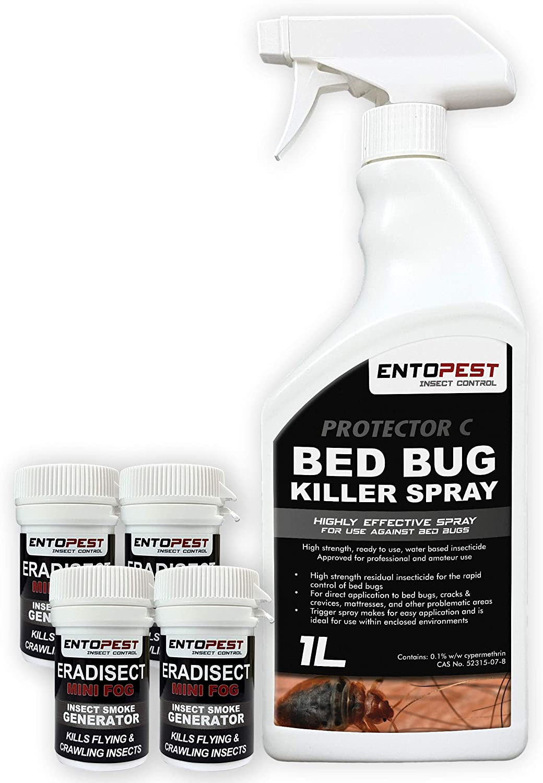 Entopest Bed Bug Killer Treatment Spray Smoke Bedroom Control Kit Light Infestation Only Amazon Co Uk Garden Outdoors