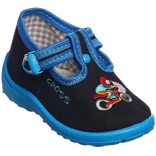 sports shoes 73abd c7594 Yaro Jungen Hausschuhe 13-1, grau oder blau, Gr. 18 bis 27