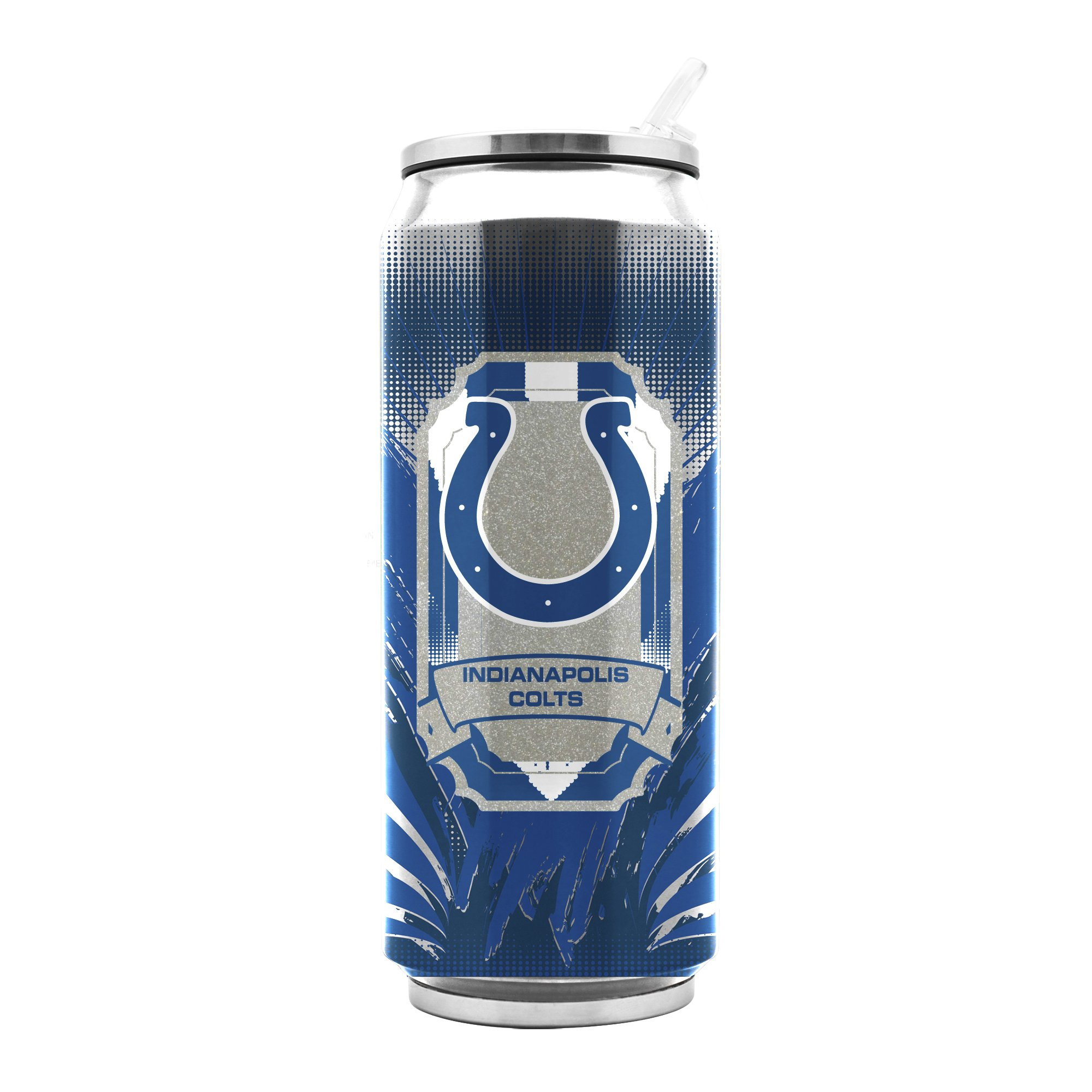 NFL Indianapolis Colts 16oz Double Wall Stainless Steel Thermocan by Duck House