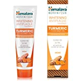 Himalaya Whitening Antiplaque Toothpaste with Turmeric + Coconut Oil for Brighter Teeth, 4 oz