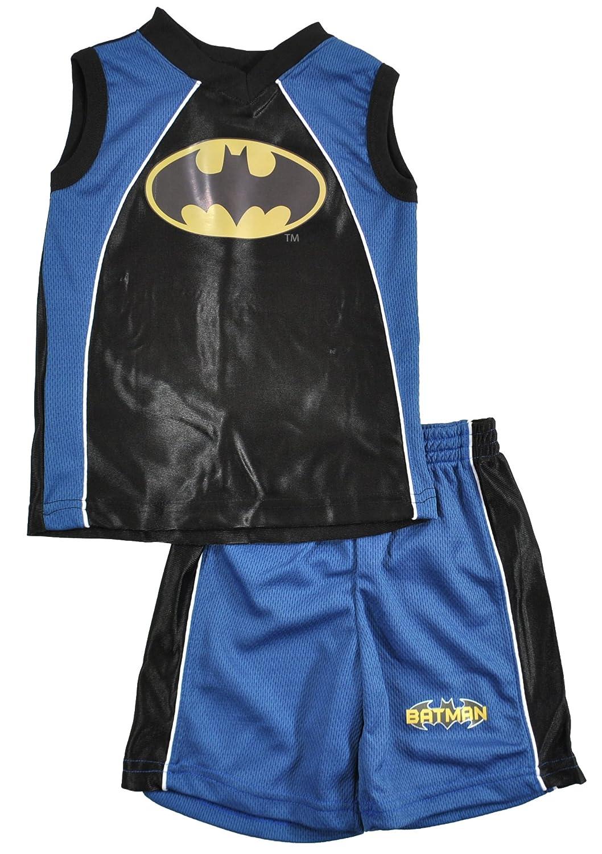 Batman Toddler Boys Blue /& Black 2Pc Short Set