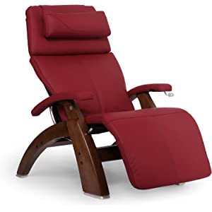 Human Touch Perfect Chair PC-420 Classic Plus Top Grain Leather Zero Gravity Recliner, Red