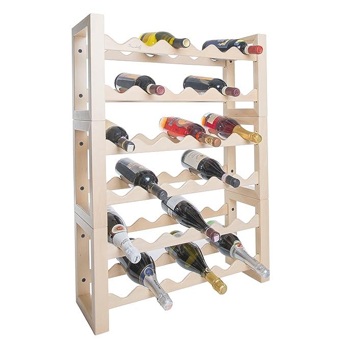 3 opinioni per Cantinetta vino portabottiglie in legno porta bottiglie frigo 36 posti naturale