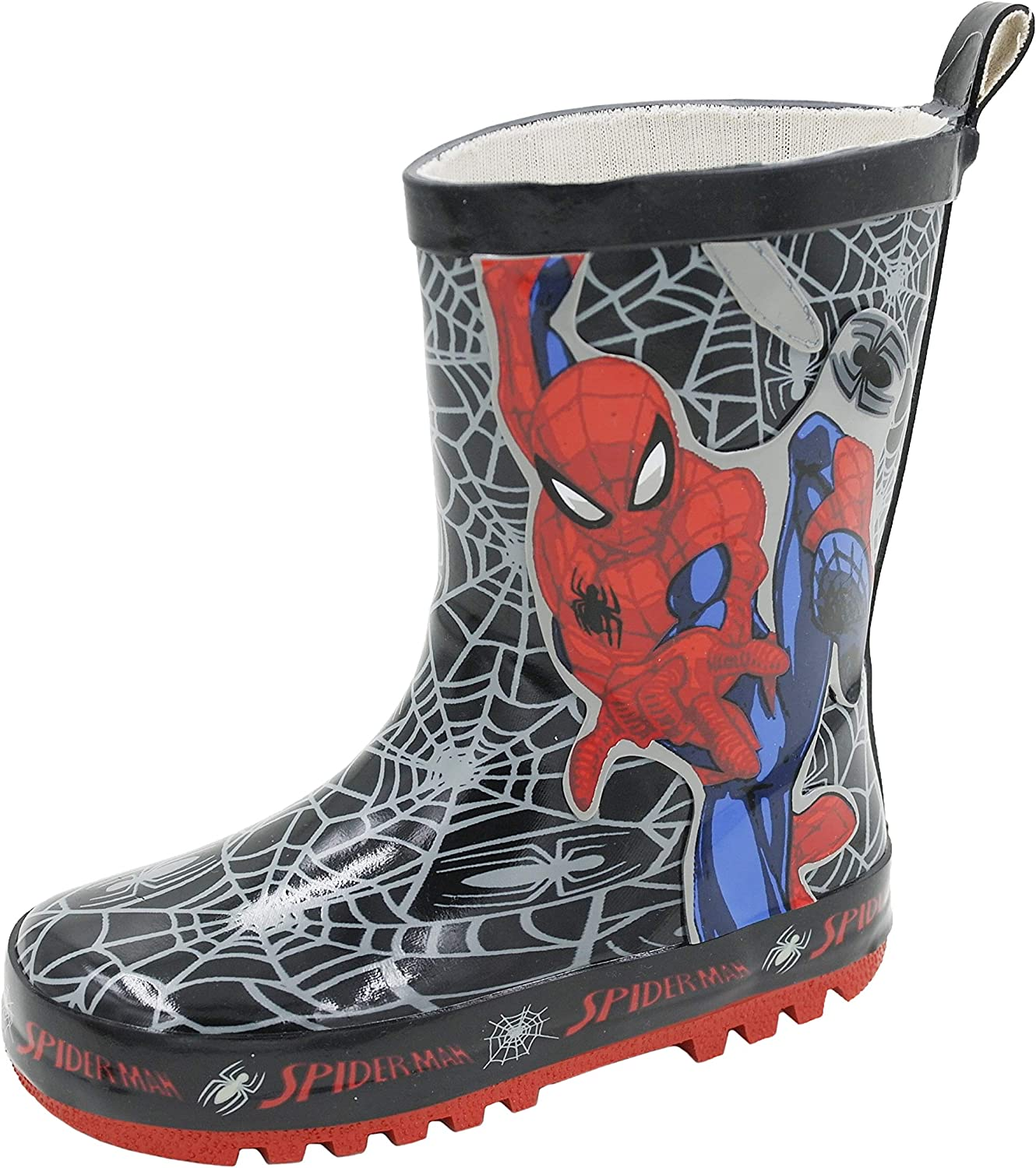Children/'s Spider-Man Rain Boots Boys Girl/'s Waterproof non-slip Water Shoes
