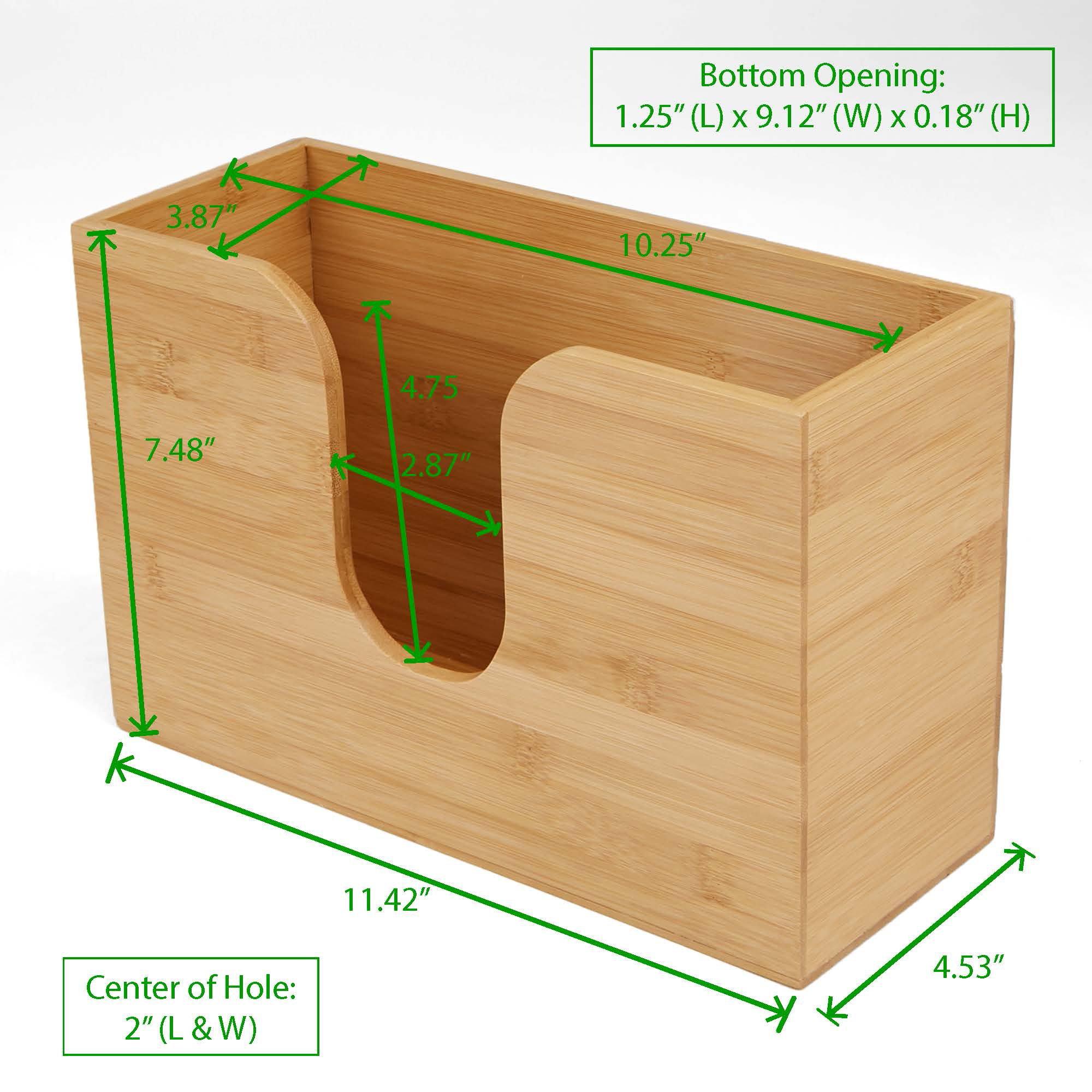 Mind Reader Bamboo Wall Mount Interfold Napkin Dispenser Organizer, Brown by Mind Reader (Image #7)