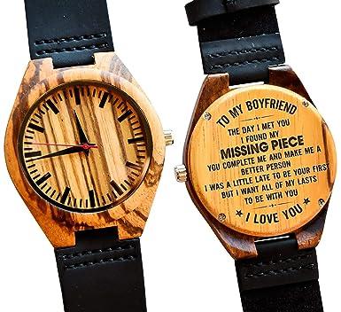 bdbe4c04357d to My Boyfriend Gift – Engraved Wooden Wrist Watch for Men Wood  Personalized Wedding Anniversary Birthday