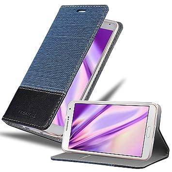Cadorabo Funda Libro para Samsung Galaxy Note 3 en Azul Oscuro ...