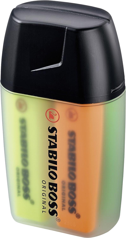 Marcador fluorescente STABILO BOSS Original - Estuche Big BOSS Box con 4 colores: Amazon.es: Oficina y papelería