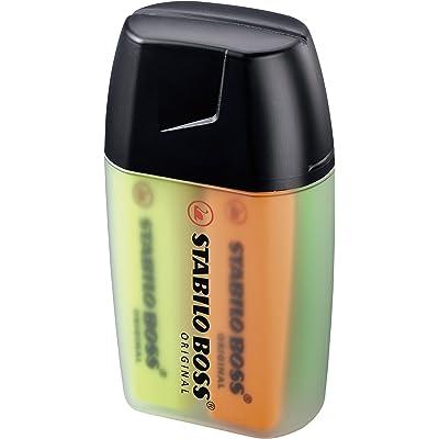 Marcador fluorescente STABILO BOSS Original - Estuche Big BOSS Box con 4 colores