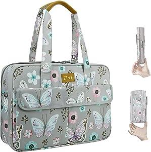 Super Slim & Expandable 14-15 Inch Laptop Tote bag, Anti Theft Shoulder Bag Water-Repellent Laptops Briefcase Case Teacher Bag Gifts for Women, (3.7L-10.3L), Butterfly